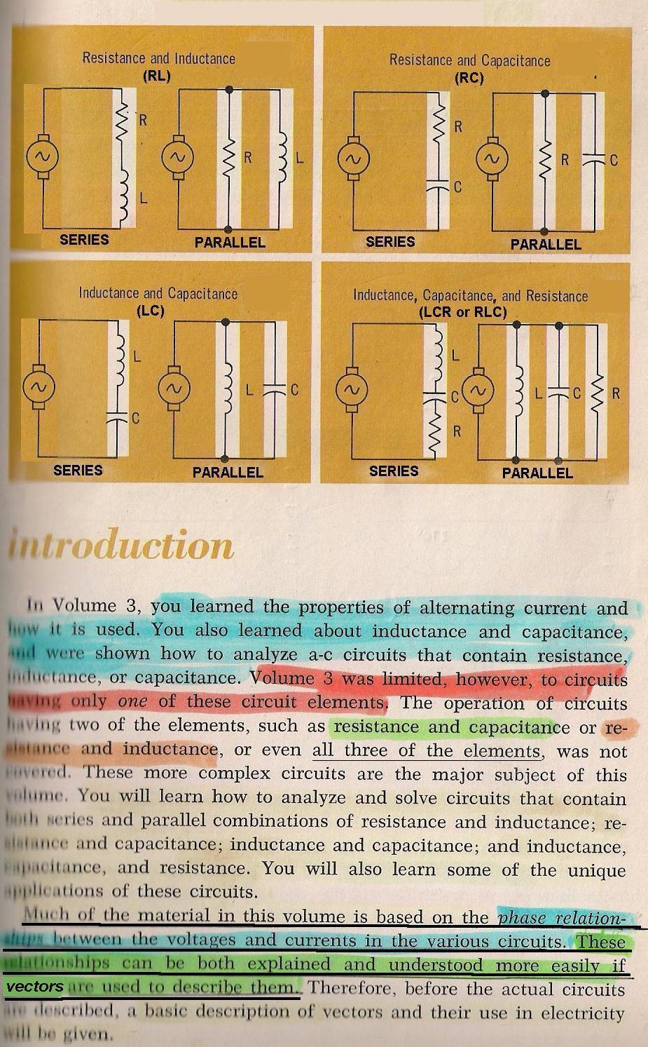 Rlc Circuits 001 Vectors Introduction By Larry E Gugle K4rfe Ac Circuit Inductance And Capacitance Lcr In Series