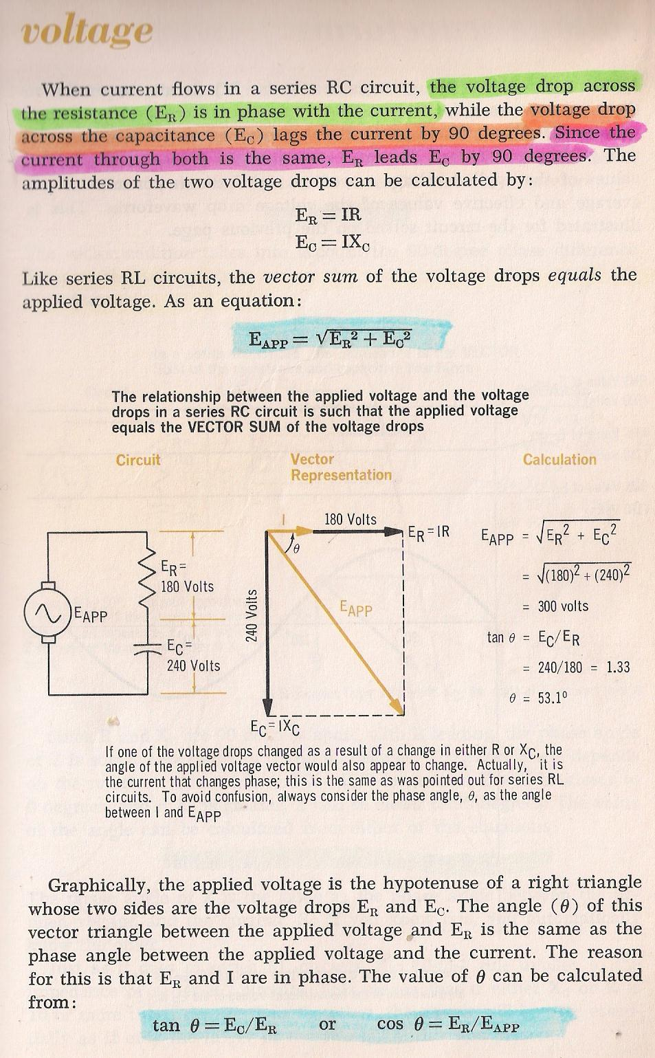 Rlc Circuits Series Rc Circuit Graph On Impedance Of Diagram 026 Voltage By Larry E Gugle K4rfe