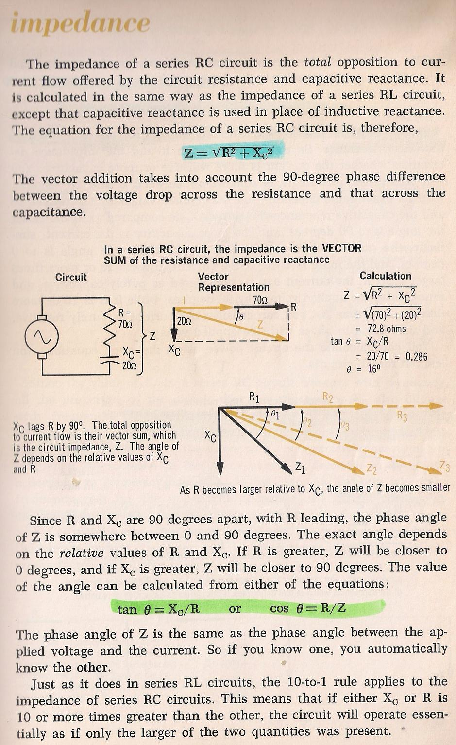 Rlc Circuits The Capacitive Reactance And Circuit Impedance Is Calculated As 028 By Larry E Gugle K4rfe
