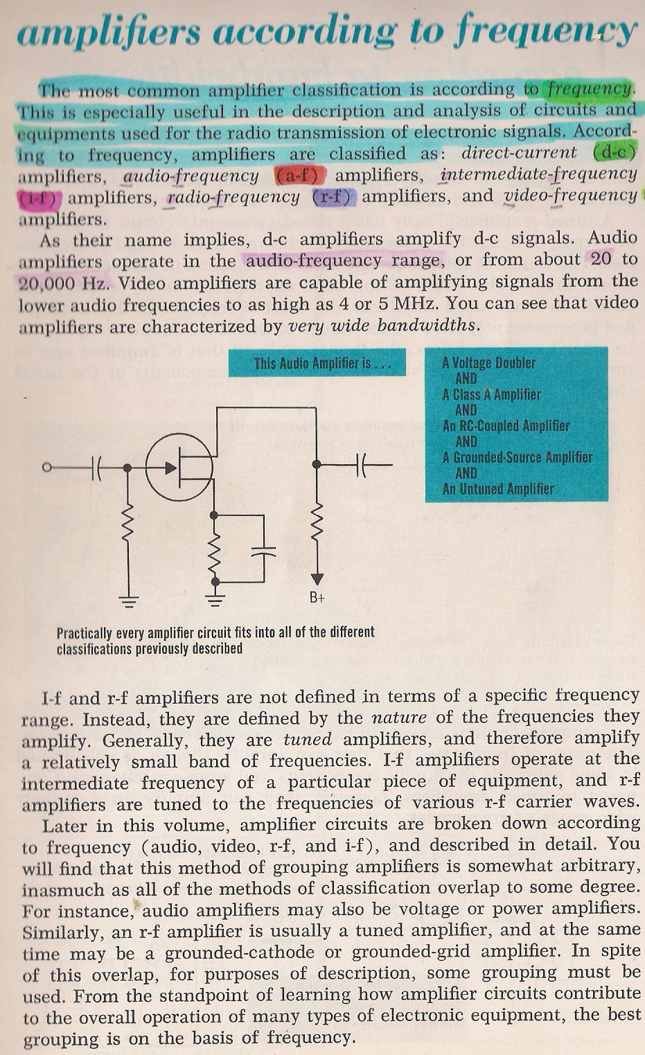 Amplifiers Direct Coupled Radio 007 According To Frequency By Larry E Gugle K4rfe