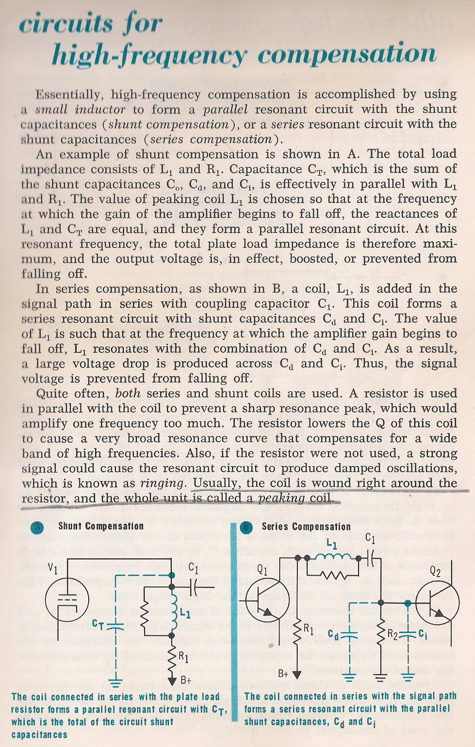 Amplifiers Video Amplifier Circuit Diagram 033 Circuits For High Frequency Compensation By Larry E Gugle K4rfe