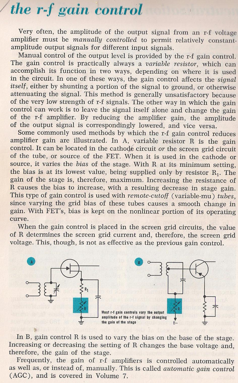 Amplifiers Rf Buffer Stage 046 The Gain Control By Larry E Gugle K4rfe