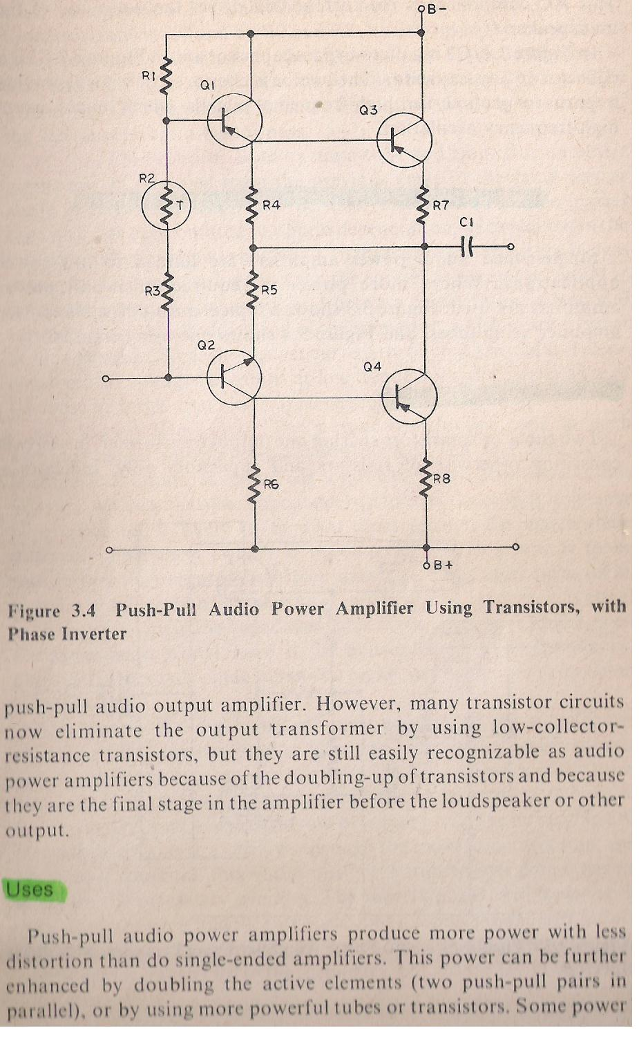Amplifiers Push Pull Amplifier Schematic 078b Audio Frequency Af Power By Larry E Gugle K4rfe
